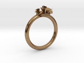 Size 10.5 Lilies Ring Customizable Size in Natural Brass