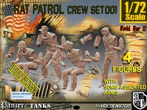 1/72 Rat Patrol Crew Set001 in Smooth Fine Detail Plastic