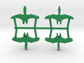 Dino Meeple, Pterosaur 4-set in Green Strong & Flexible Polished