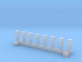N Scale 8x Mooring Bollard 1 in Smooth Fine Detail Plastic
