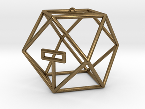 Coriolis Starport Wireframe in Natural Bronze: Small
