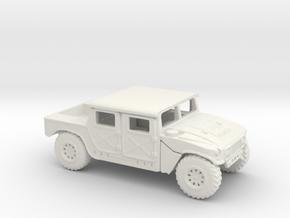 1/87 Scale HMMWV2 in White Natural Versatile Plastic