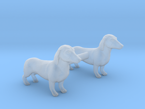Dachshunds in Smoothest Fine Detail Plastic: 1:87 - HO