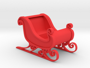 Sleigh in Red Processed Versatile Plastic: 1:64 - S