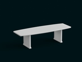 1:10 Scale Model - Table 06 in White Natural Versatile Plastic