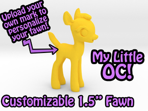 "My Little OC: Faun 1.5"" in Yellow Strong & Flexible Polished"