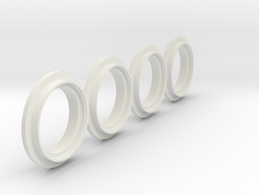 MB Trac 1000/ 1100 Felgen Verbreiterung in White Natural Versatile Plastic