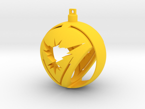 Team Instinct Christmas Ornament Ball in Yellow Strong & Flexible Polished