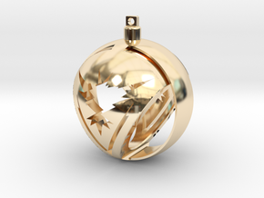 Team Instinct Christmas Ornament Ball in 14k Gold Plated Brass