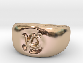 Capricorn Ring sz8 in 14k Rose Gold Plated