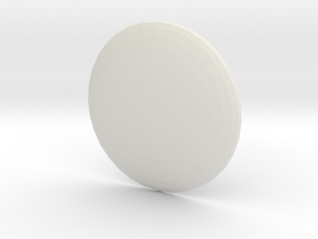 Round Custom Symbol Shield, 5mm in White Natural Versatile Plastic
