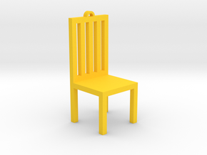 Chair Ornament in Yellow Strong & Flexible Polished