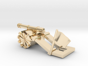 Tank paperweight in 14k Gold Plated Brass: Small