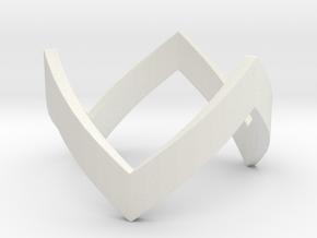 WonderWoman THK Ring in White Premium Strong & Flexible: 4 / 46.5
