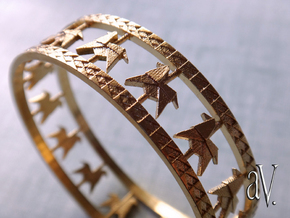 Carousel Band Bangle in Raw Brass: Medium