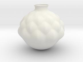 Vase J1817 in White Natural Versatile Plastic