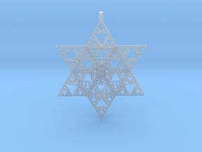 Sierpenski Star of David Ornament in Smooth Fine Detail Plastic