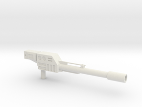 Onslaught Gun for KO Os Warbotron in White Natural Versatile Plastic