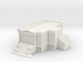 1/1000 U.S. Capitol Hill Left Wing in White Natural Versatile Plastic