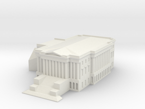 1/1000 U.S. Capitol Right Wing in White Natural Versatile Plastic