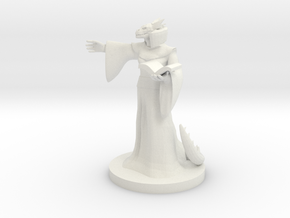 Dragonborn Female Mage in White Natural Versatile Plastic