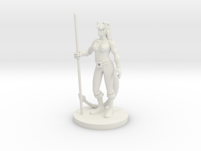 Tiefling Female Monk in White Natural Versatile Plastic