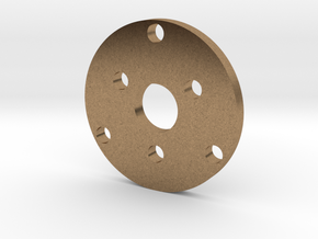 R type Small Chassis disk in Natural Brass