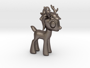 "My Little OC: Smol Reindeer 2""  in Polished Bronzed Silver Steel"