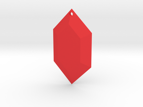 Zelda Rupee Ornament in Red Processed Versatile Plastic