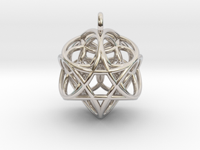 Flower of Life Fire Pendant in Platinum