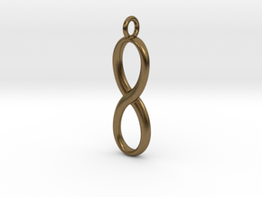 Earring infinity symbol in Natural Bronze