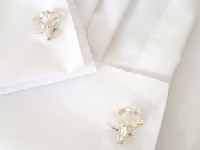 HEAD TO HEAD Unic, Cufflinks in Natural Silver