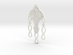 Cardassian Festoon Pendant in White Natural Versatile Plastic
