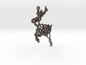 Celtic Knotted Reindeer Pendant/Ornament in Polished Bronzed Silver Steel