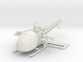 1/100 Alouette II AS11 ATGM (15mm) in White Natural Versatile Plastic