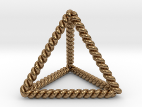 """Twisted Tetrahedron 1.4+"""" LH in Natural Brass"""