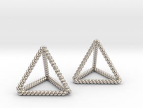 Twisted Tetrahedron Pair in Rhodium Plated Brass