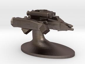 Merchant of Venus Game Piece: Nostromo in Polished Bronzed Silver Steel