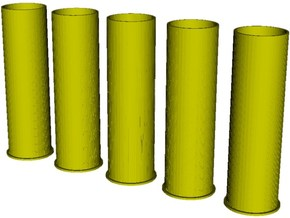 1/16 scale Howitzer 105mm cartridge M14 cases x 5 in Smooth Fine Detail Plastic