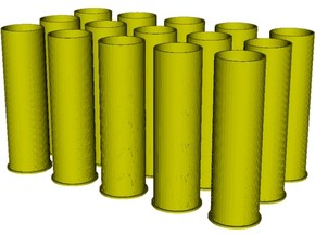 1/16 scale Howitzer 105mm cartridge M14 cases x 15 in Smooth Fine Detail Plastic