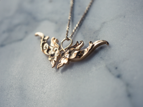 Baroque Motif 1 Pendant in 18k Gold Plated Brass