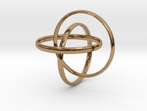 Interlocking rings in Polished Brass (Interlocking Parts)