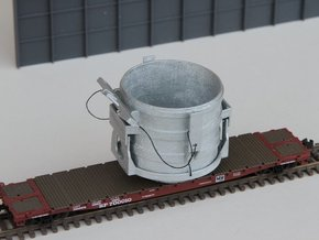 N-scale 16 ft Scrap Bucket in Smooth Fine Detail Plastic