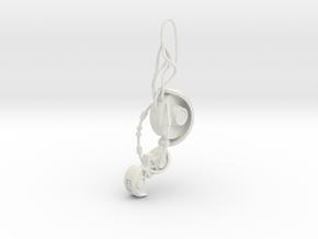 GLaDOS Earring in White Premium Versatile Plastic