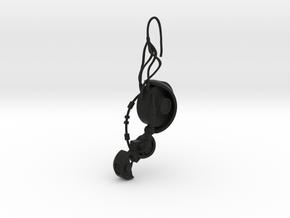 GLaDOS Earring in Black Premium Versatile Plastic
