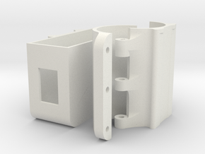 Wifi holder (mount) for TP-LINK TL-WR902AC for #Ka in White Natural Versatile Plastic