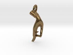 Karana Mudra V1 Pendant/ Charm 2.5cm in Natural Bronze