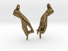 Hamsasyam Mudra Earrings (Closed) in Natural Bronze