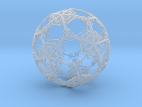 Snow Ornament in Smooth Fine Detail Plastic