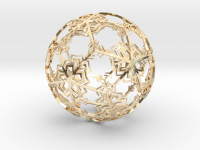 Snow Ornament in 14K Yellow Gold